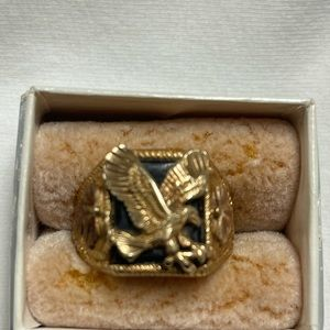 Collectible Vintage Rose Gold Eagle Ring